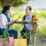Japanese senior women in a cafe
