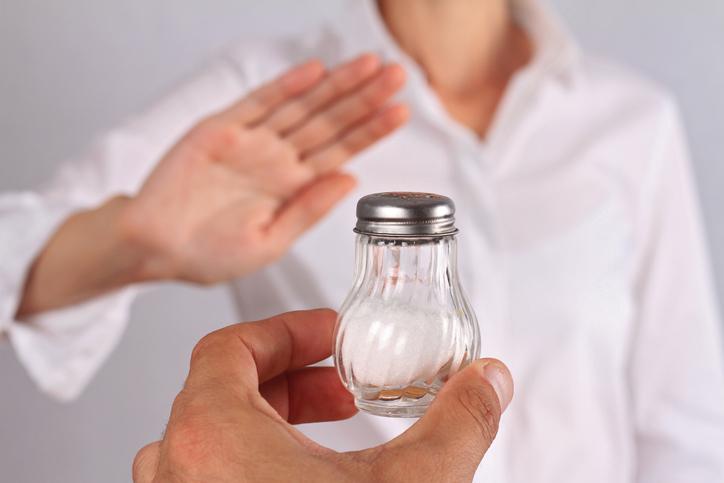 Woman refusing salt