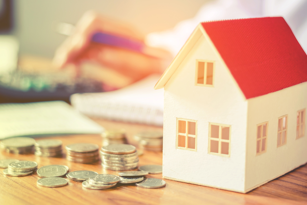 Save money for home cost concept