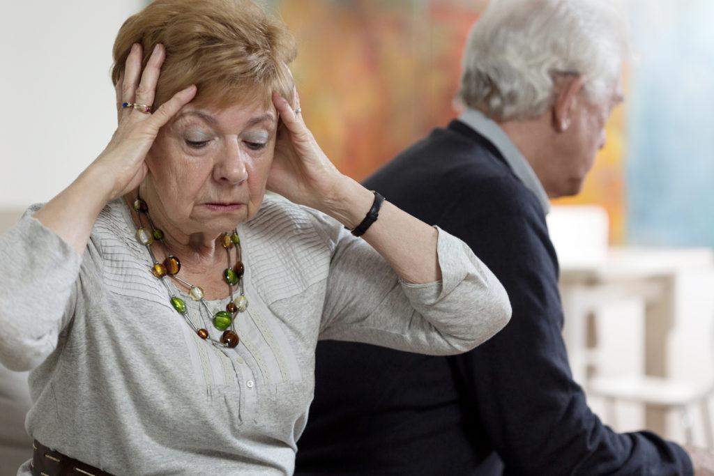 Heartbroken senior woman