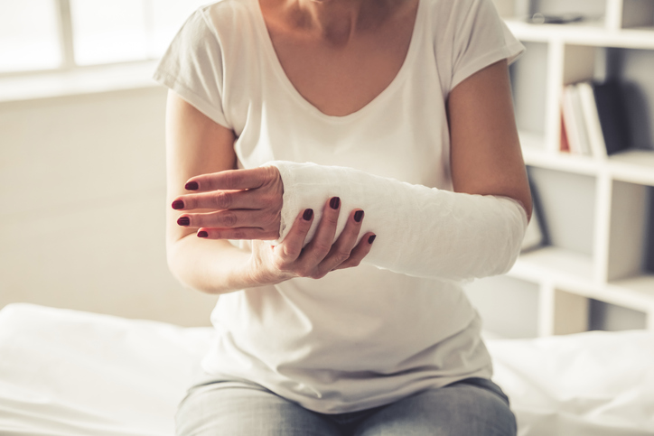 Woman with trauma