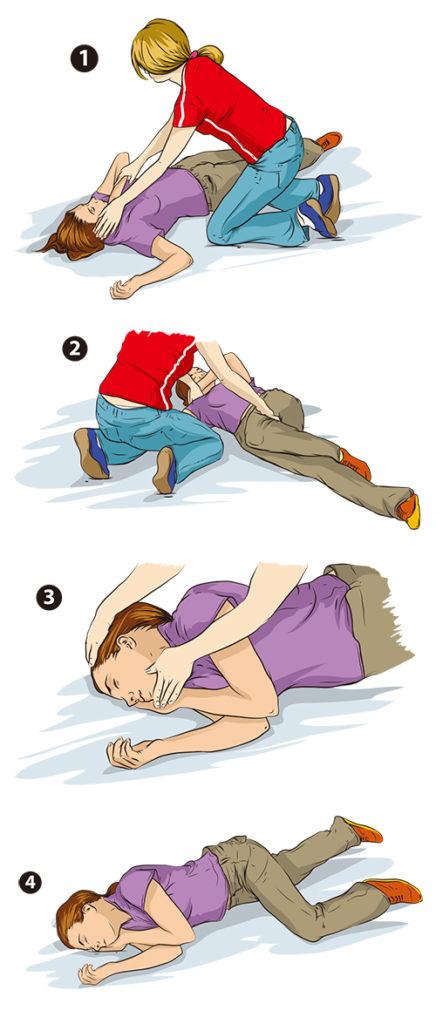 横に寝かせる方法