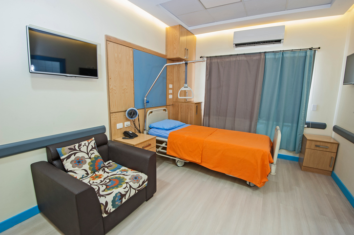 Interior of a private hospital ward room