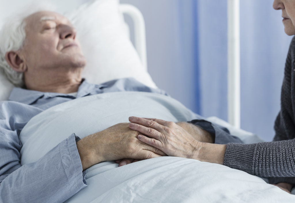 Sick elderly patient