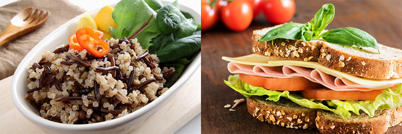 Health sandwich with whole wheat bread.