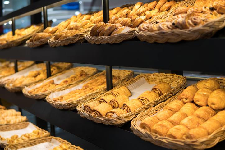 baked on shelves