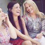 Happy group of women having fun