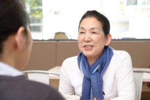 Japanese Senior Ladies Talking at a Cafe