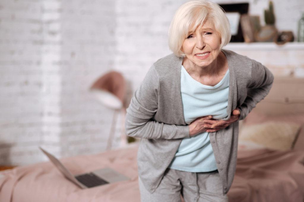Aged lady having abdominal pain