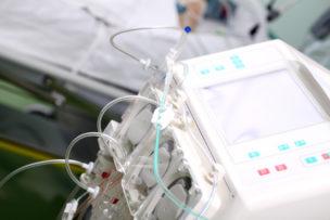 Hemodialysis machine in the ward