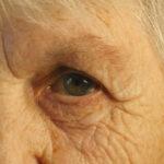 Closeup portrait of a old woman's gaze
