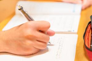 Students studying mathematics