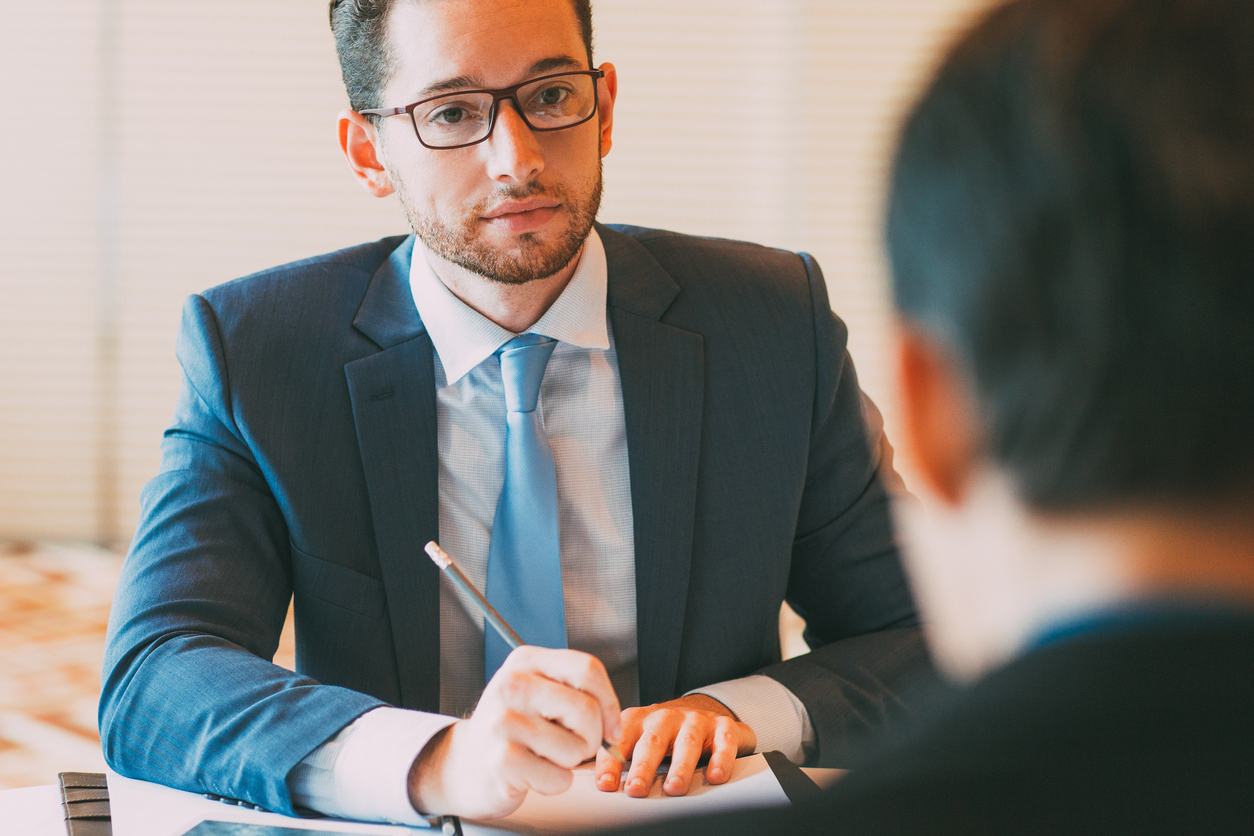 Content Manager Interviewing Applicant