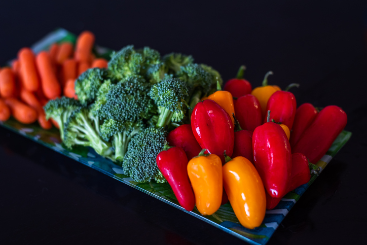 Healthy eating colourful fresh vegetable