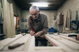 Old woodworker craftsmanship