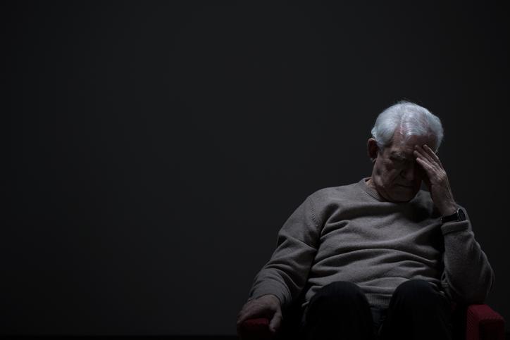 Despairing senior man