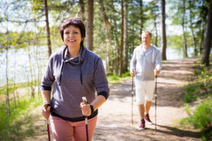 Summer sport in Finland - nordic walking