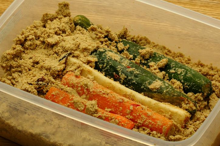 Pickled vegetables in Japanese pickled vegetables