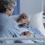 Elderly man with lung cancer