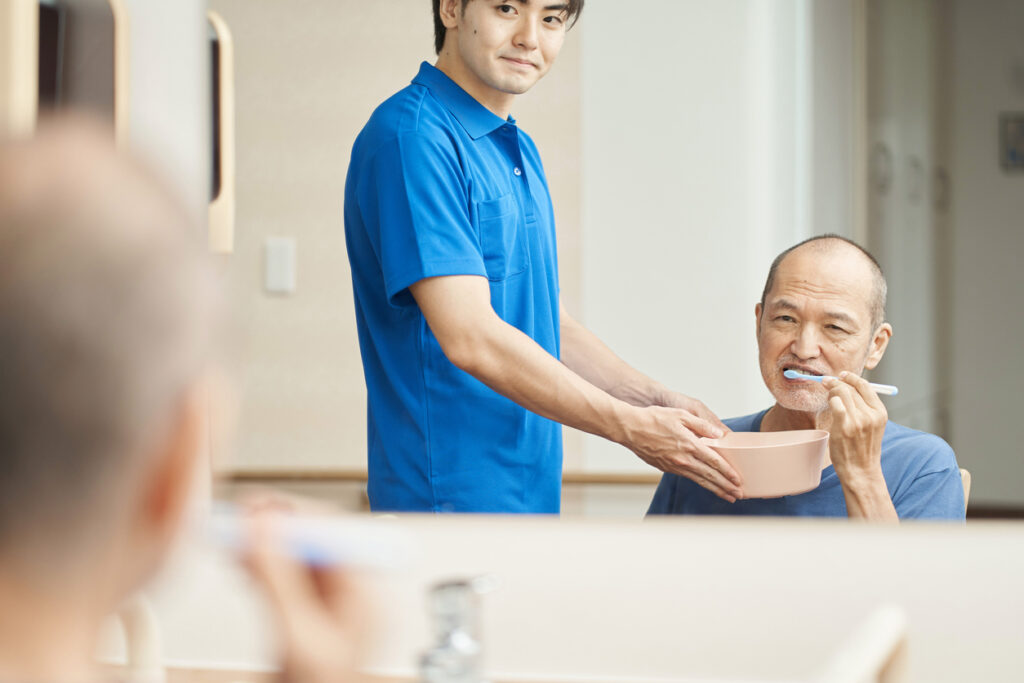 介護に取り組む素敵な男性たち
